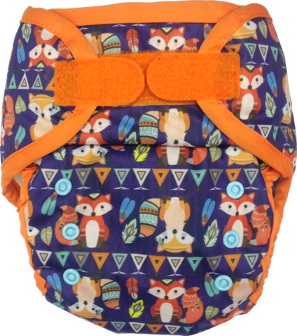 Ecopipo Onesize Hook and Loop PUL Nappy Wrap Mr Fox's Adventures