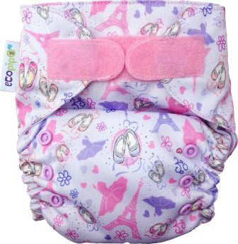 Ecopipo Onesize Pocket Nappy Ballet Dancer print