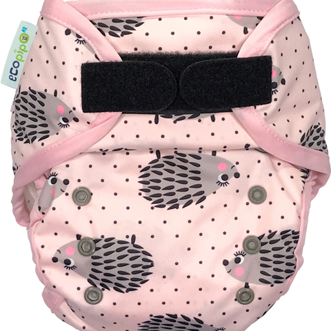 Ecopipo Onesize Hook and Loop PUL Nappy Wrap Hedgehogs print