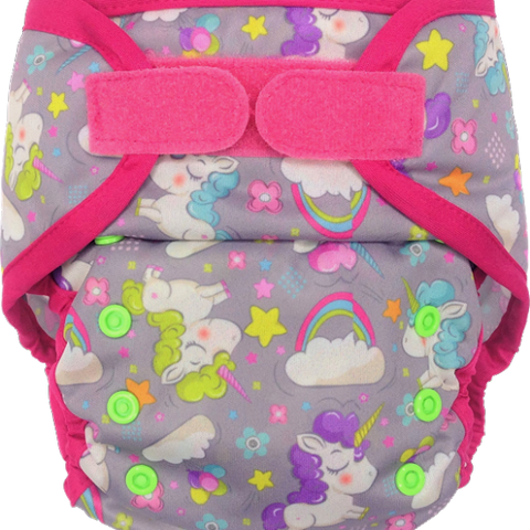 Ecopipo Onesize Hook and Loop PUL Nappy Wrap Magic Land print