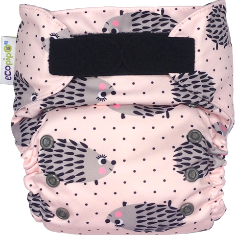 Ecopipo Onesize Pocket Nappy Hedgehogs print