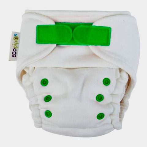 Ecopipo Onesize Adjustable Night Nappy Spring Green Hook and Loop