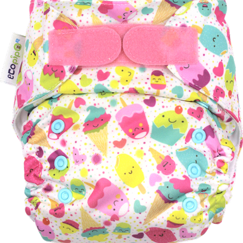 Ecopipo onesize pocket nappy Sundae Fun print