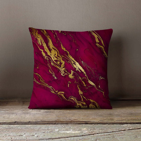 Pink Gold Marble Purple Pillowcase Decorative