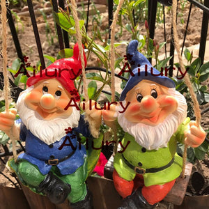 High-20cm,American Village Dwarf Garden Ornament Garden Home Farm Decoration Air Strap Wall Decorative Gardening.Xmas decor