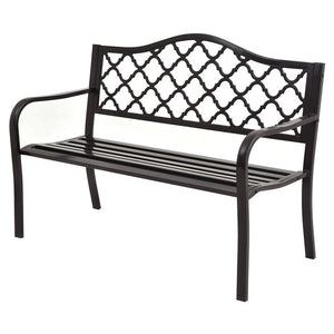 "50"" Patio Garden Bench Loveseats Park Yard"