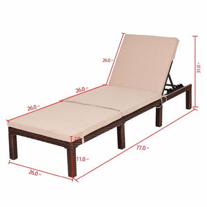 Adjustable Chaise Lounge Chair 4 Position