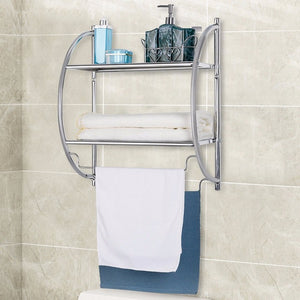 2-Tier Wall Mount Shower Organizer Holder