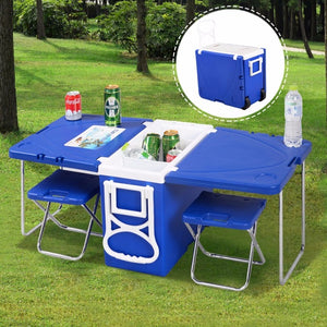 Multi Function Rolling Cooler Box Picnic