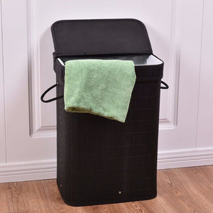 Rect Bamboo Hamper Bedrooms Laundry Basket