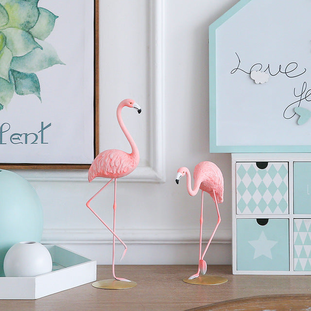 1 Piece Flamingo Resin Figurine Home