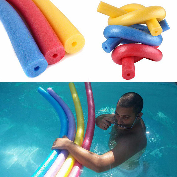 MUQGEW  swimming ring New Pool Float Sticks Pearl Cotton Swabs Swim Sticks For Adult & Kids Hollow Swimming Ring Pool #ES