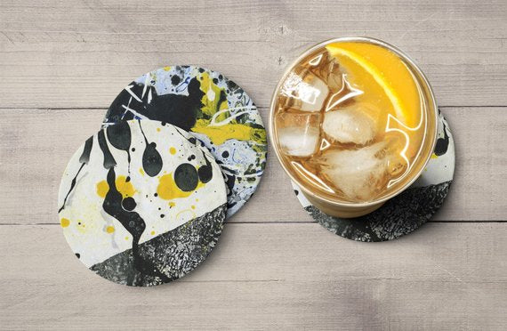 Set Of Coasters Drink Coasters Party Coaster Set