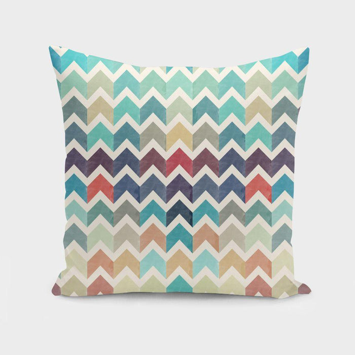 Watercolor Chevron Pattern II Cushion/Pillow