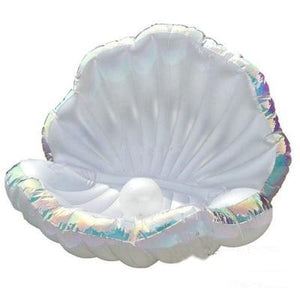 Giant Pearl Scallops Inflatable Pool Float Shell Mattress Lounger With Handle