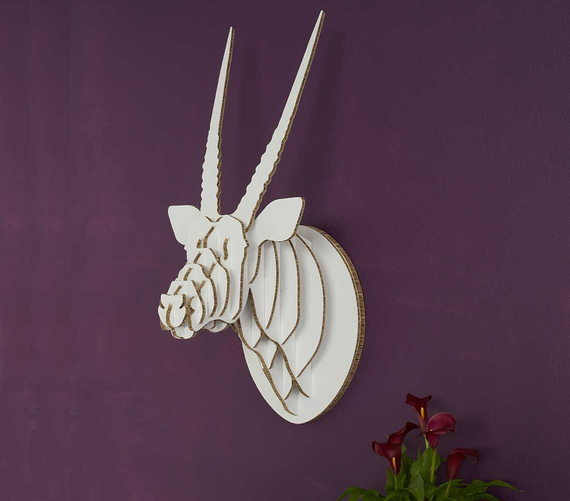 Oryx Trophy Head in X-Board, Head On Design, recycled paperboard