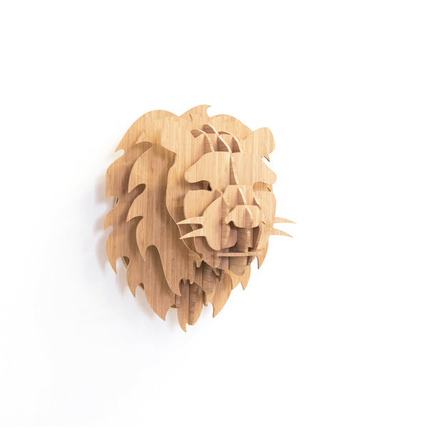 Lion Head in Bamboo, Head On Design