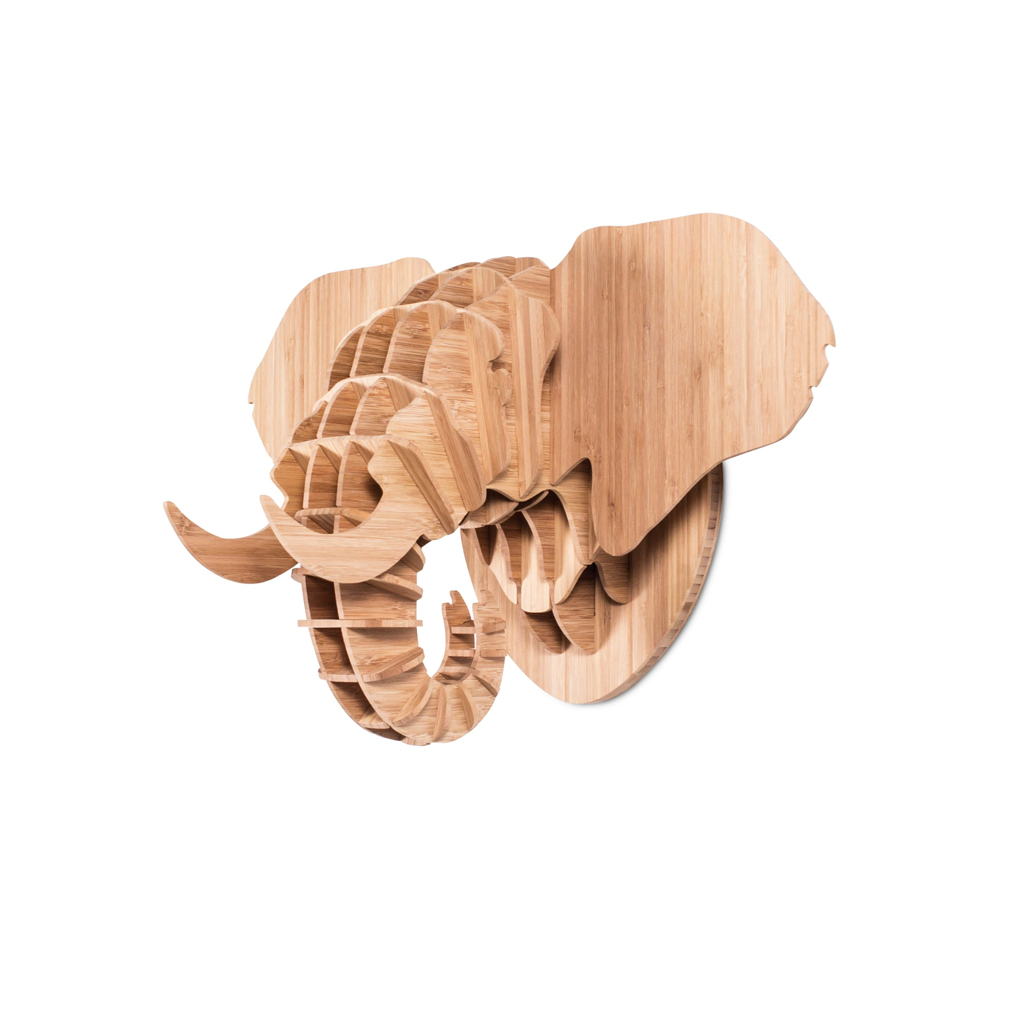 Elephant Trophy Head in Bamboo (med)
