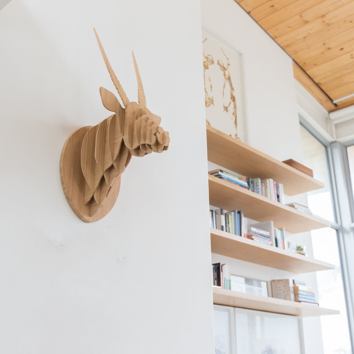 Oryx Trophy Head in Bamboo, Head On Design, recycled paperboard