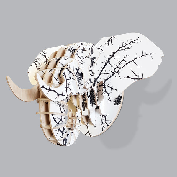 Elephant head with Thorn print