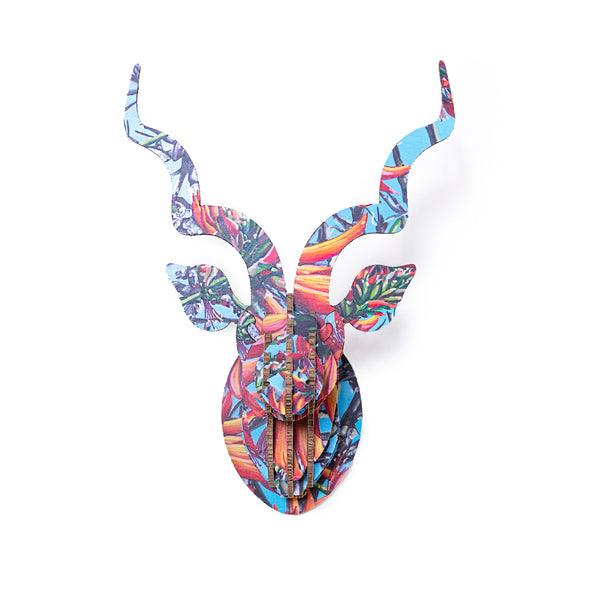 Claudia Gurwitz Printed Kudu Head in X-Board