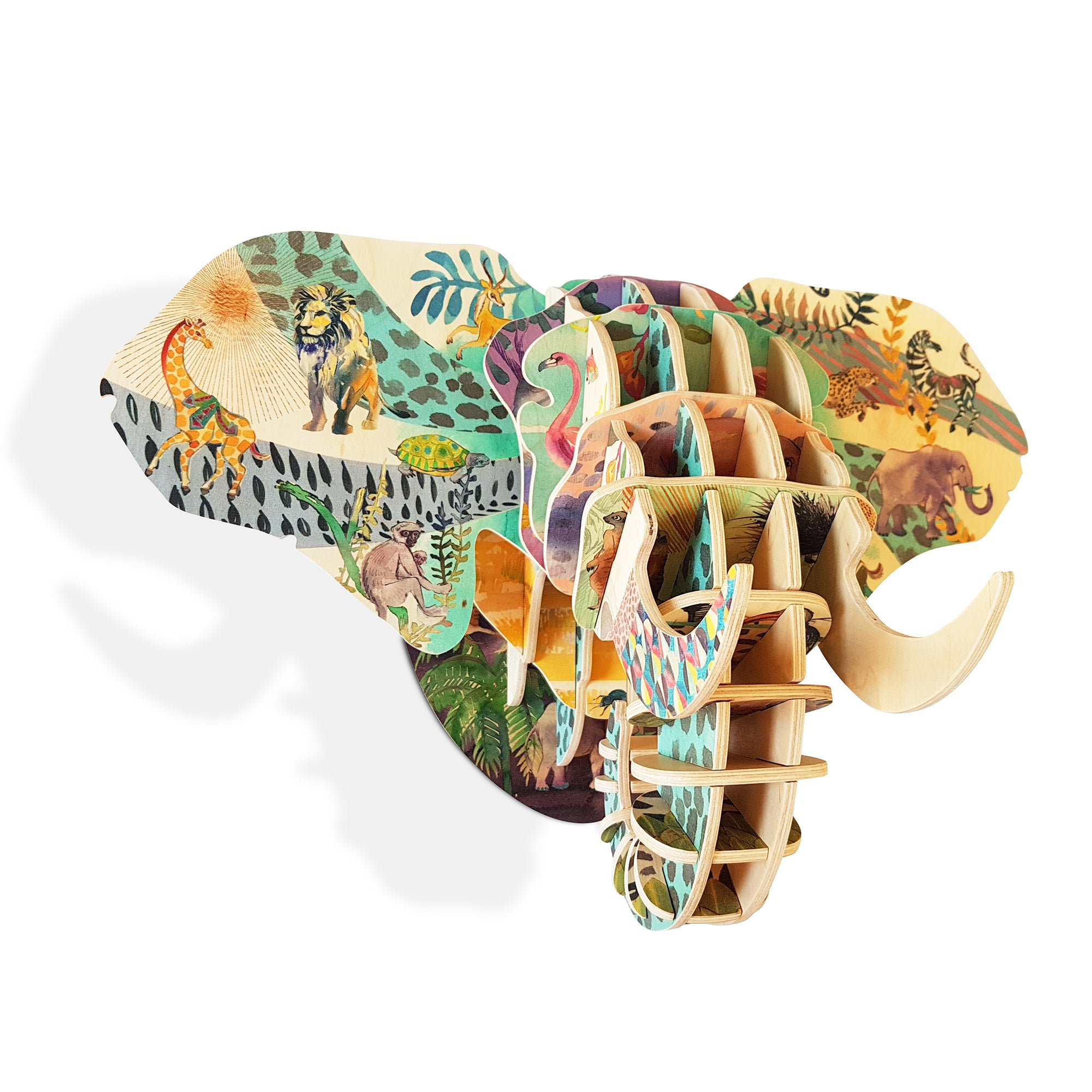 Elephant head with Jungle print