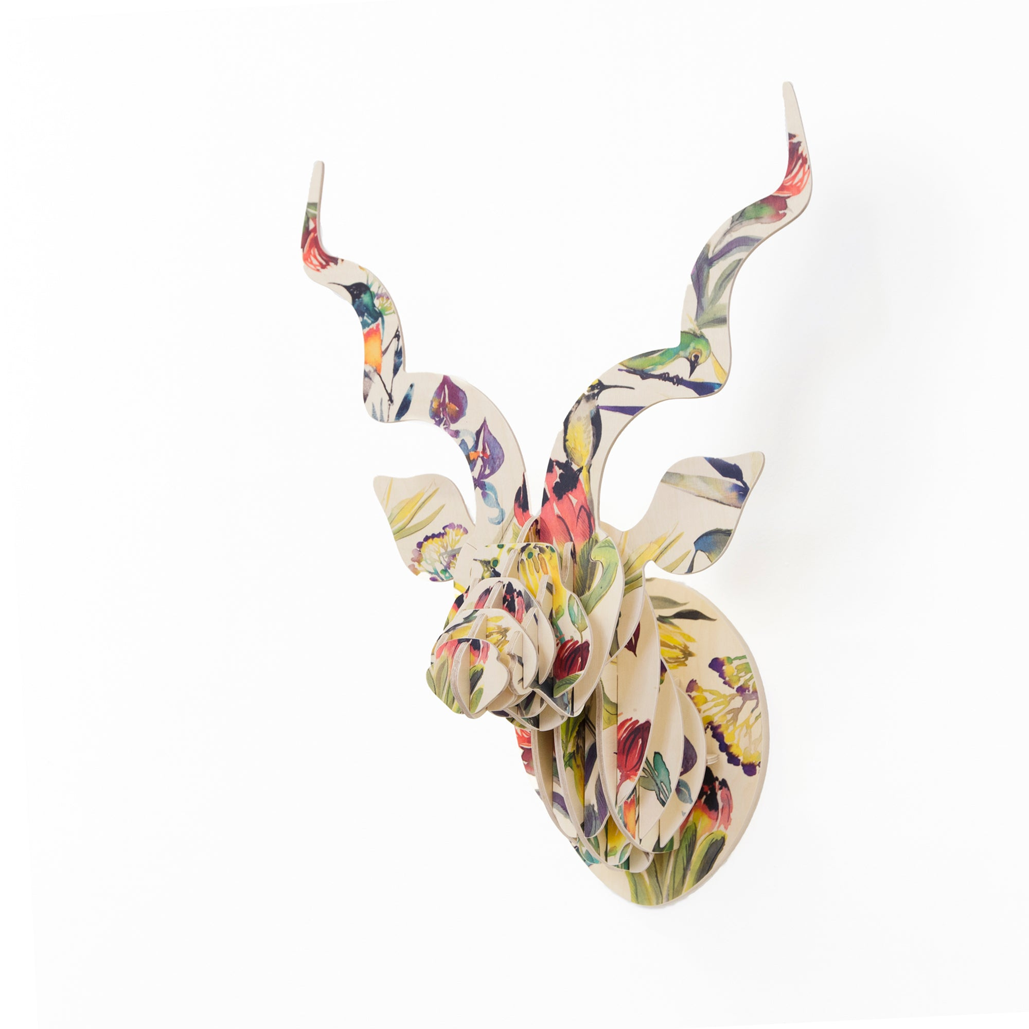 KUDU with Artist Print - Fynbos Sugarbirds and Proteas (med)