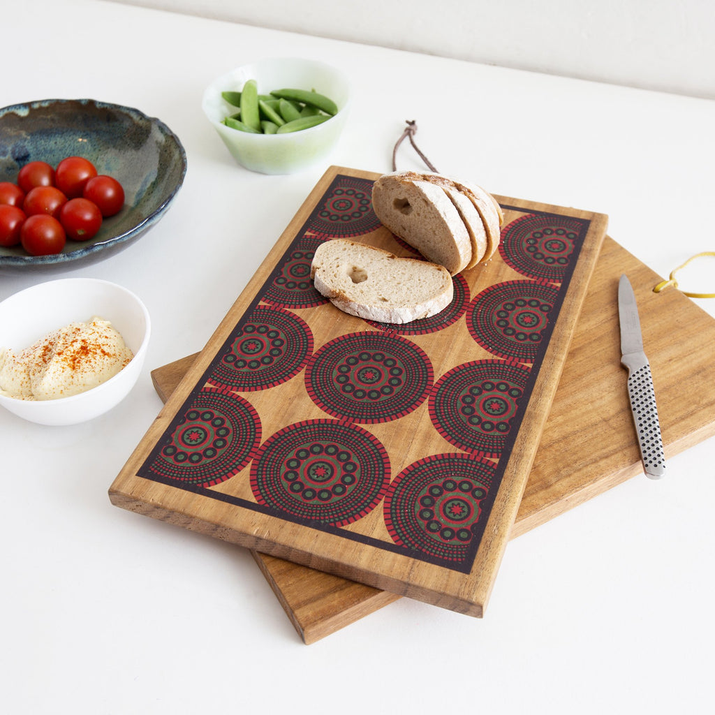 Designer Chopping Board with African print