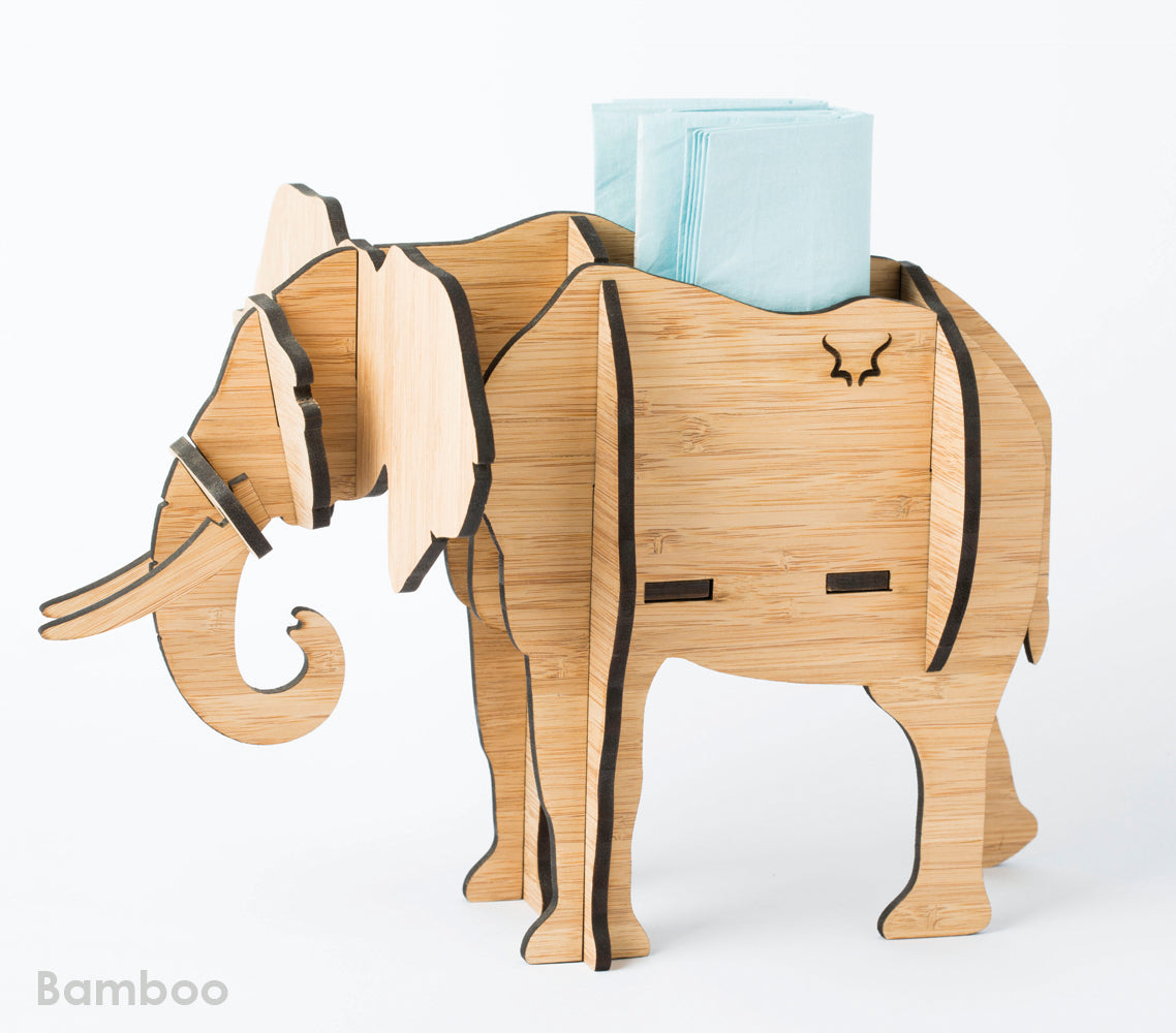 Elephant Table Decor in Bamboo