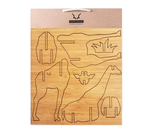 Giraffe in bamboo, gifting, kids decor, flat packed
