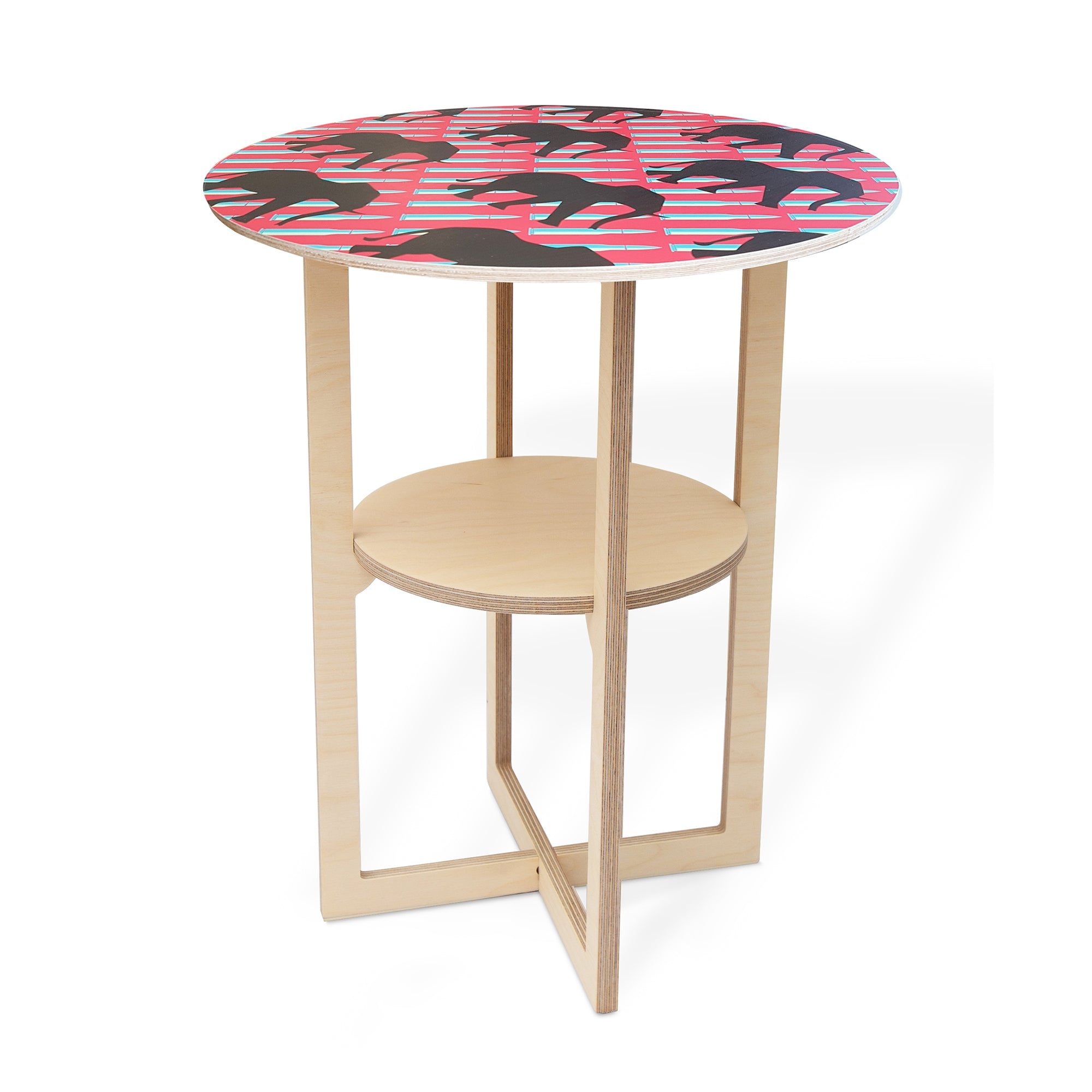 Side Table with Ele print
