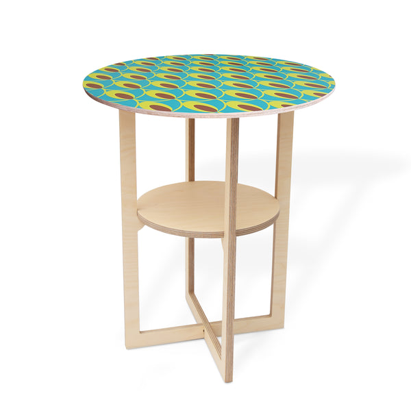 Side Table with Shweshwe print
