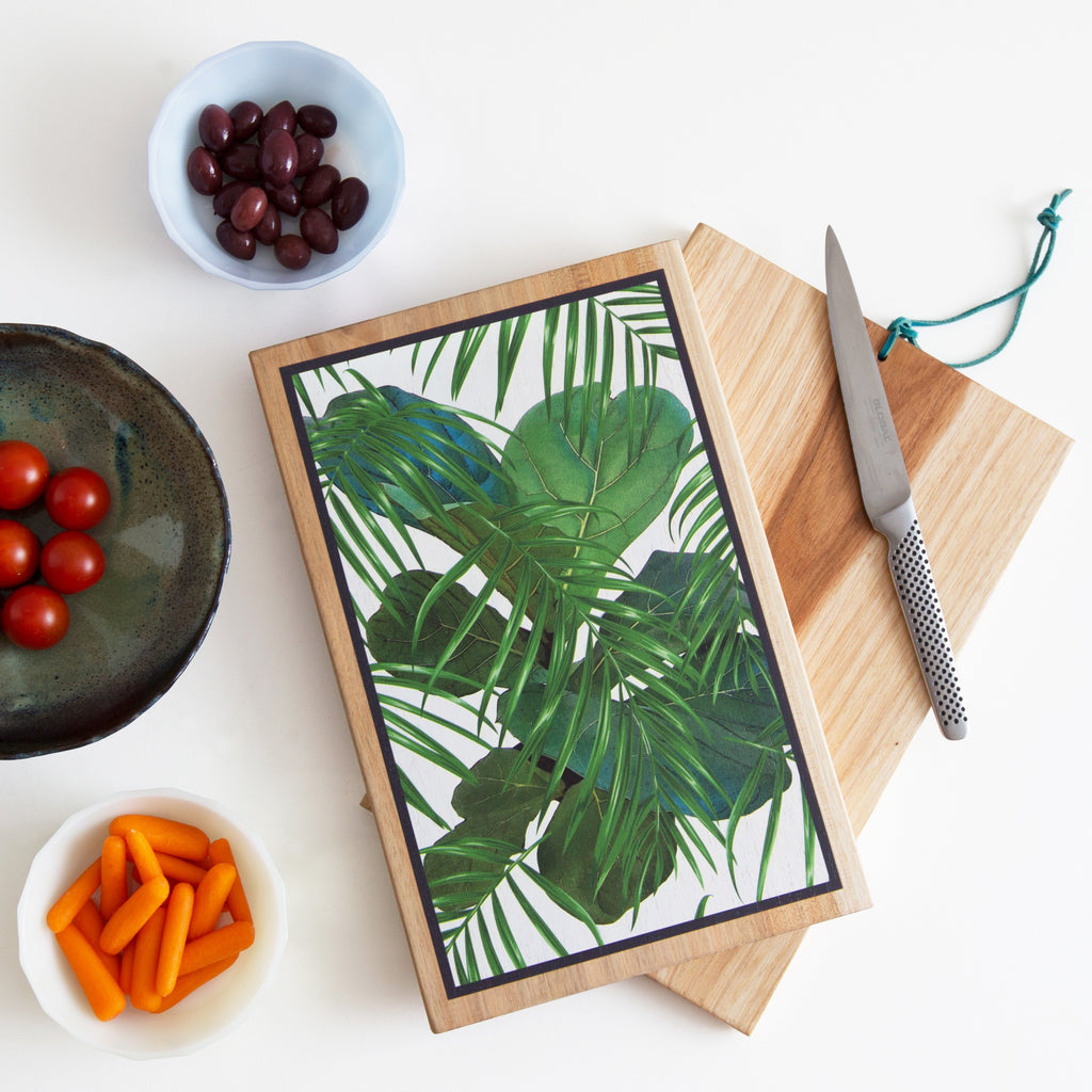 Designer Chopping Board with Leaf print