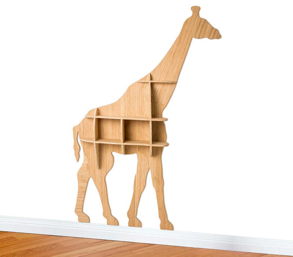 Giraffe Bookshelf in Bamboo