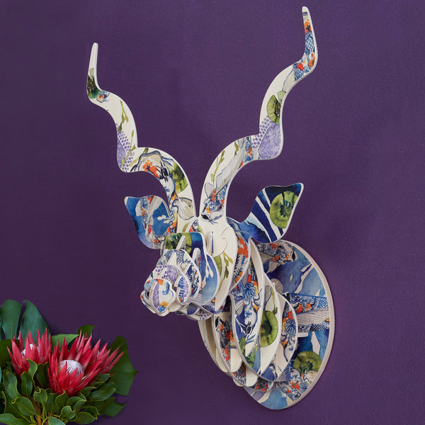 Kudu head with Koi Fish Print