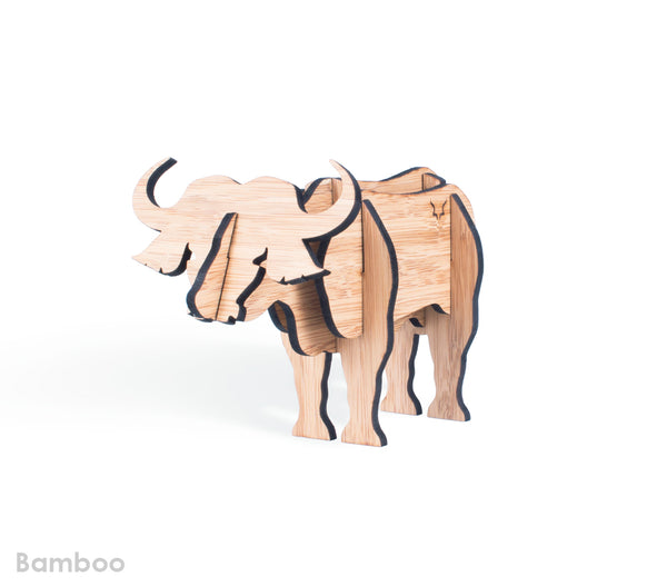 Freestanding Buffalo in Bamboo