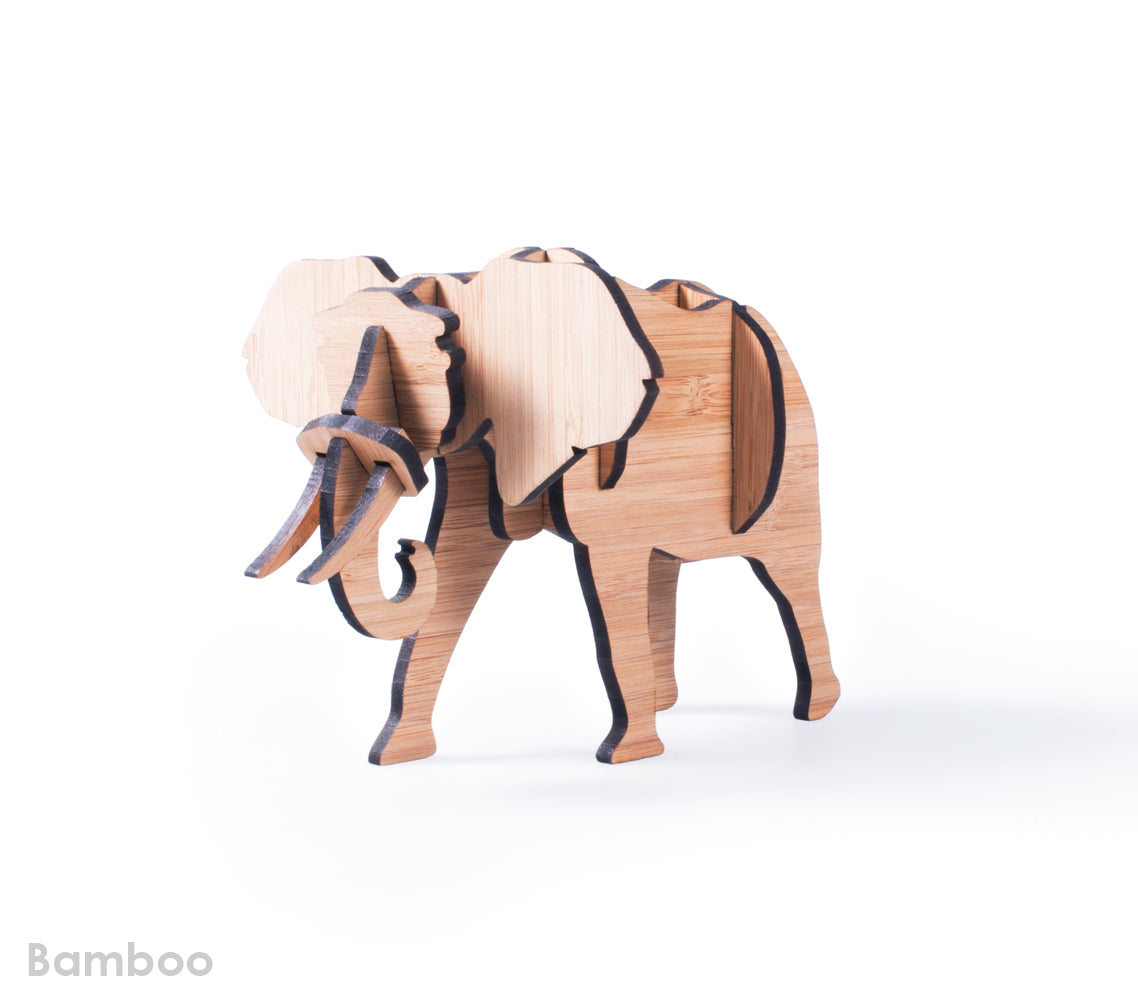 Freestanding Elephant in Bamboo