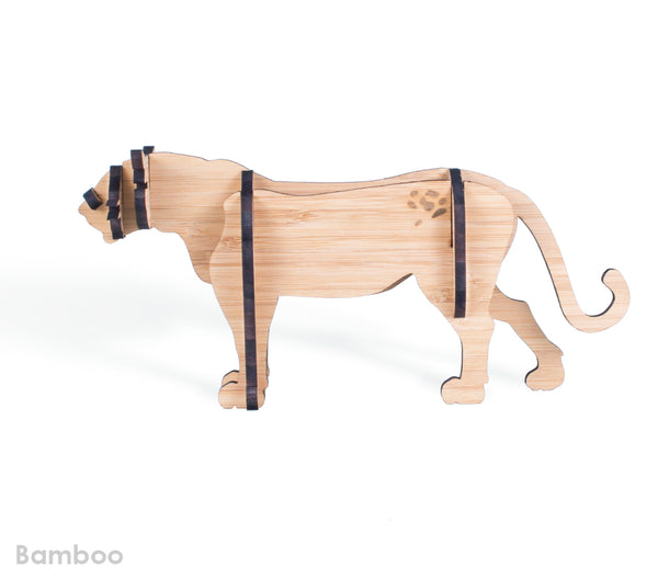Freestanding Leopard in Bamboo