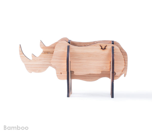 Freestanding Rhino in Bamboo