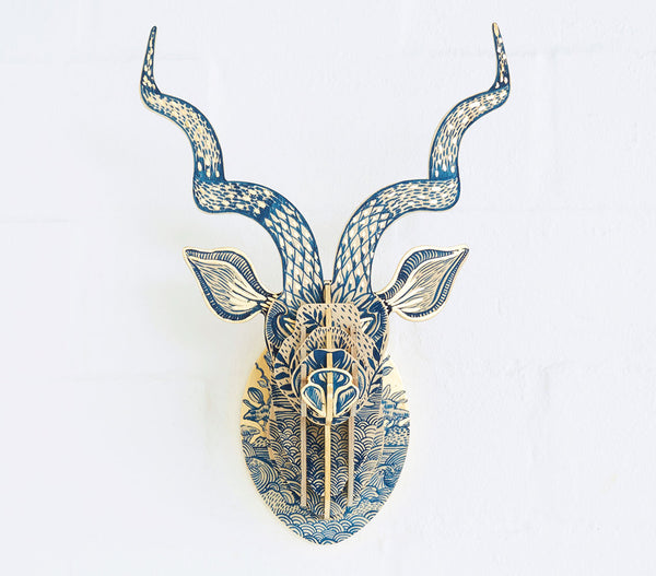 Painted Kudu Head (med) – Delft Fynbos Theme