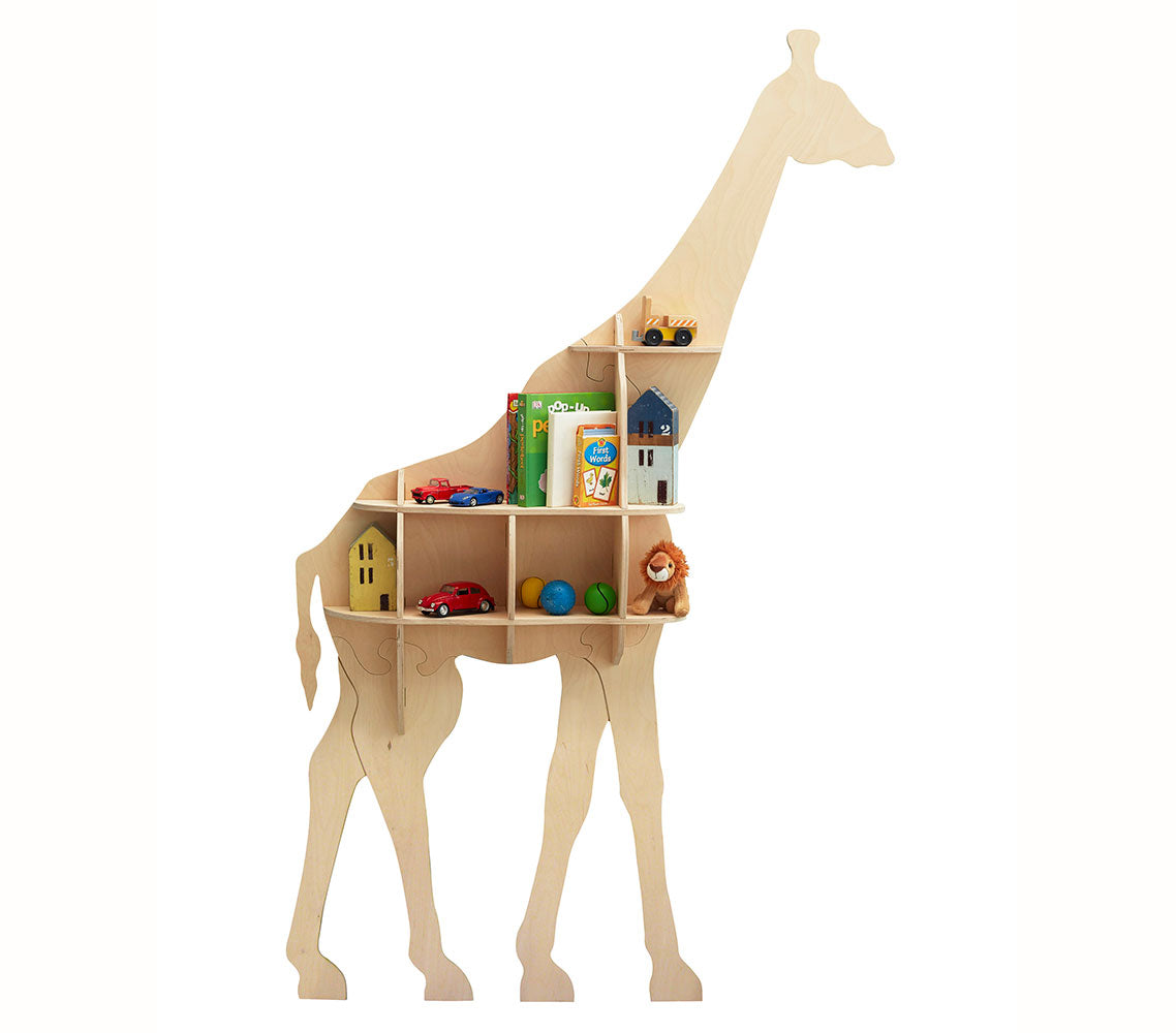 Giraffe Bookshelf in Birch Ply