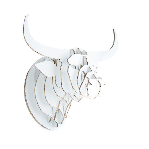 Nguni Trophy Head in X-Board, Head On Design, recycled paperboard