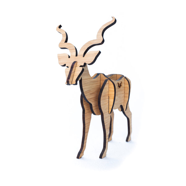 Freestanding Kudu in Bamboo
