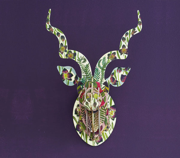 Painted Kudu Head (med) – Black Orchid Theme