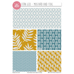 Fern Geo Mustard/Teal Fat Quarters