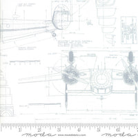 Airplane Schematics - Modern Background, More Paper