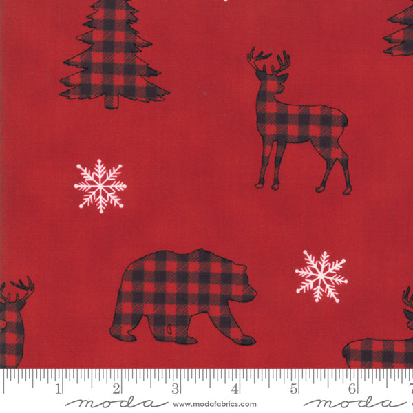 Holiday Lodge - Berry Red Silhouette 91-11
