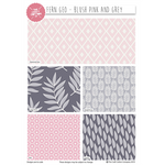 Fern Geo Pink/Grey Fat Quarters