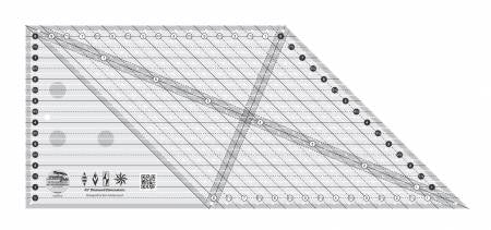 CGR - 45 Degree Diamond Dimensions Quilt Ruler