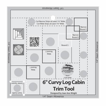 "CGR - 6"" Curvy Log Cabin Trim Tool"